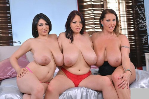 Joanna Bliss, Luna Amor and Laura Orsolya   36F, 36H, 42D The Inches Add Up HD